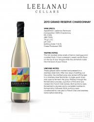 grand reserve chardonnay specs