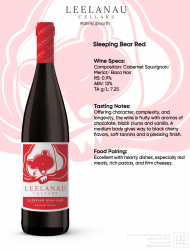 sleeping bear red specs