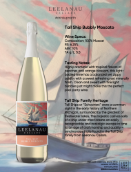 tall ship bubbly moscato specs