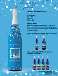 winter white bubbly specs