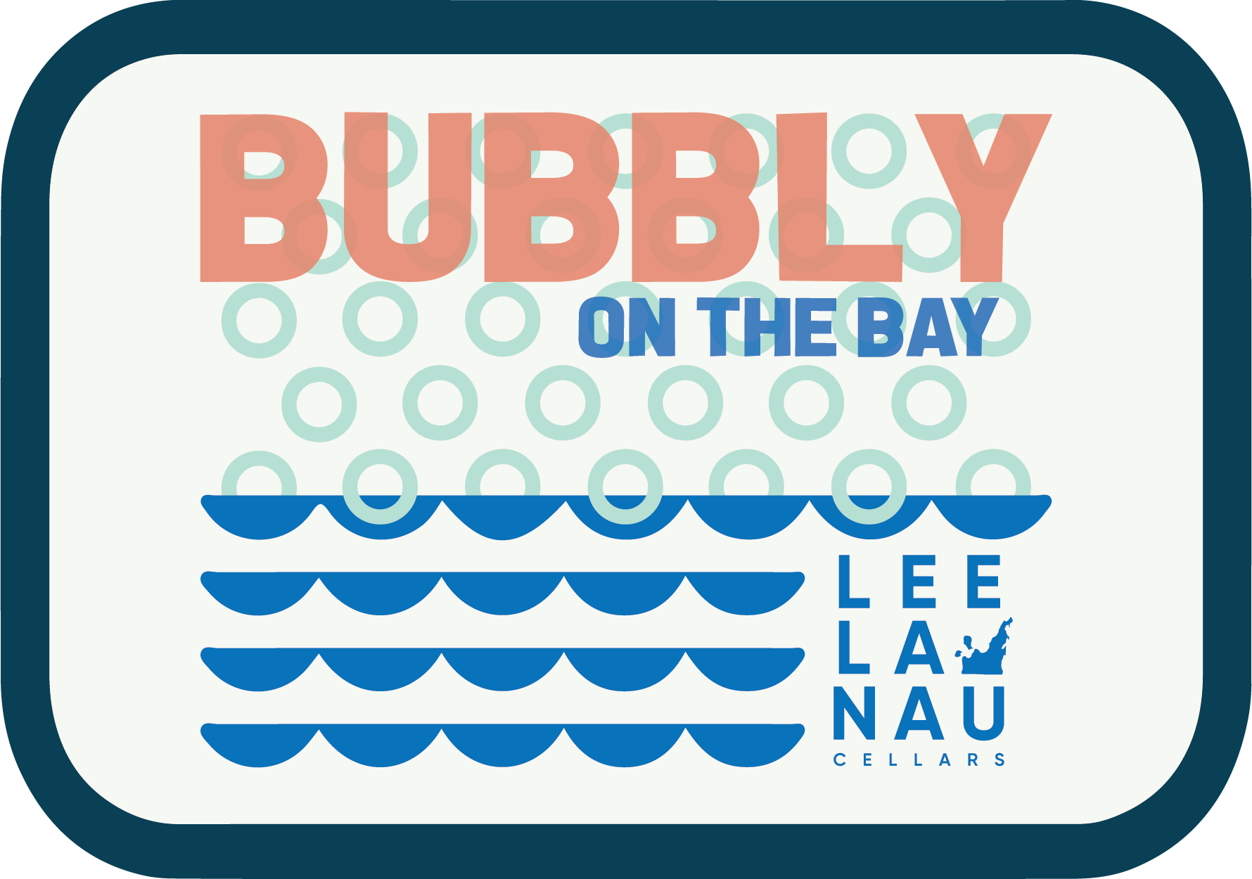 Logo of bubbly on the bay